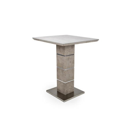 Bar Table in Grey Concrete Effect - Delta