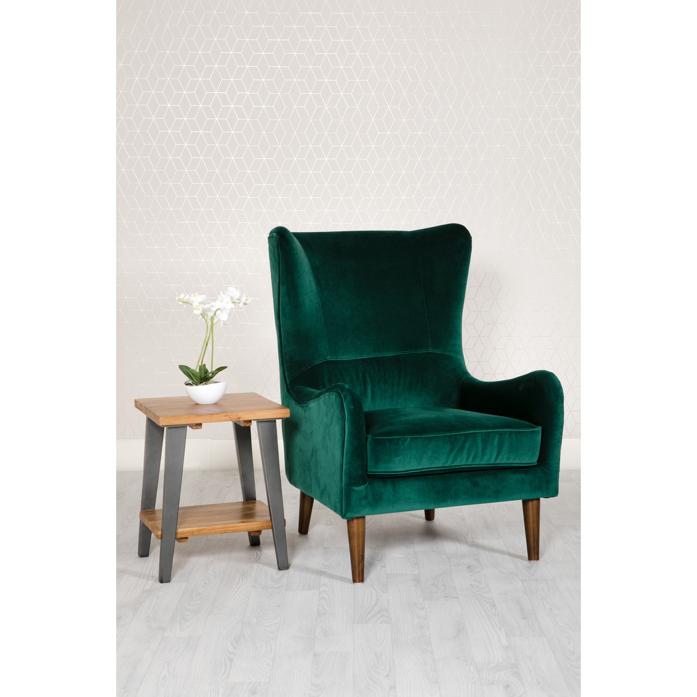 Green Velvet Accent Chair - Freya