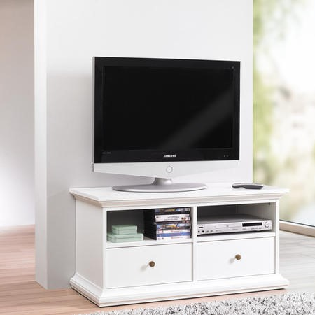 Paris White TV Unit