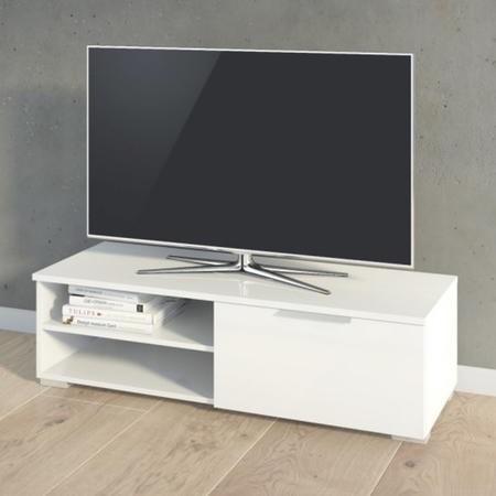 Small White High Gloss TV Unit