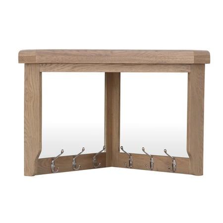 Corner Coat Rack with Mirror