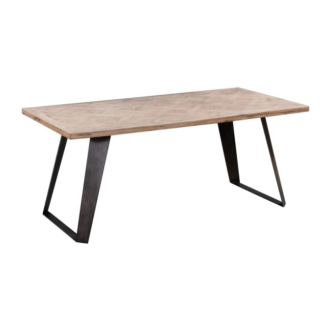 Brown Chervon Dining Table 220cm - Seats 10