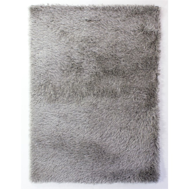 GRADE A2 - Dazzle Silver Rug with Sparkles 120x170cm - Flair