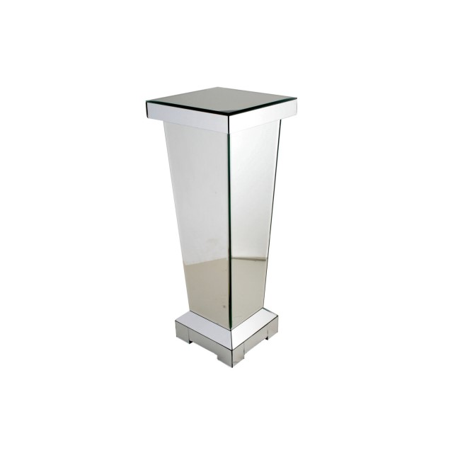 Silver Mirrored Small Lamp Stand - Anais