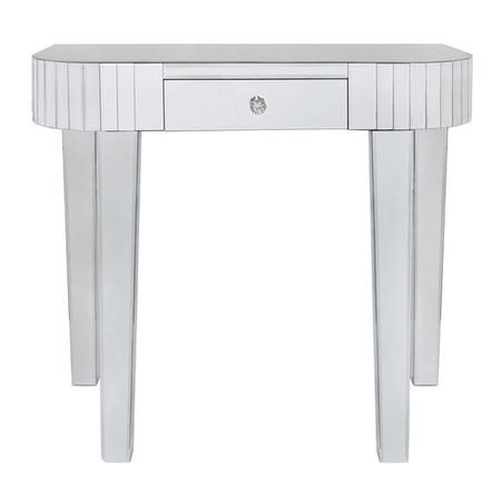 Mirrored Console Table with Rounded Edge