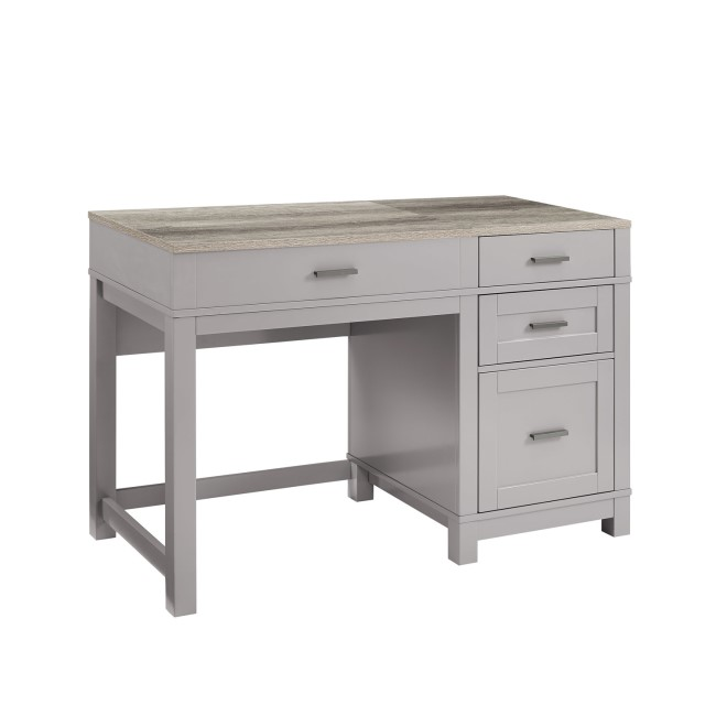 Carver Grey Desk with Lift Top & Drawers