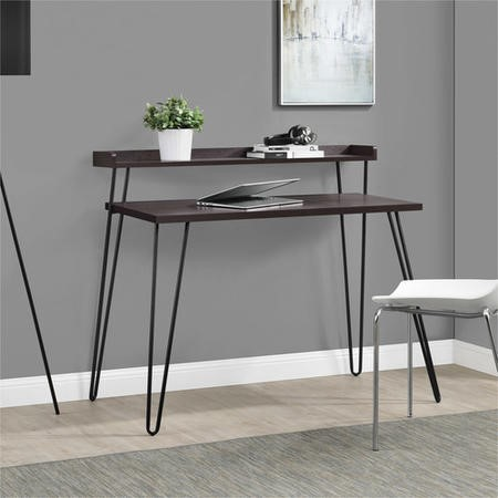 Haven Expresso Desk with Riser & Hairpin Legs
