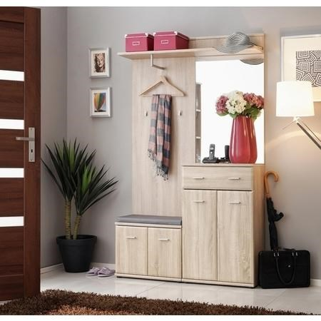 Oak Hall Storage Unit with Coat Hooks - Neo