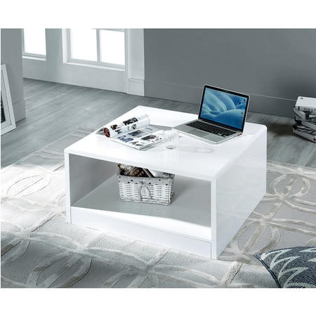 Square White Gloss Coffee Table - Manahattan