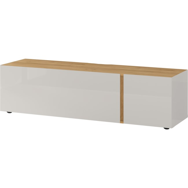 White and Oak TV Unit with 2 Doors