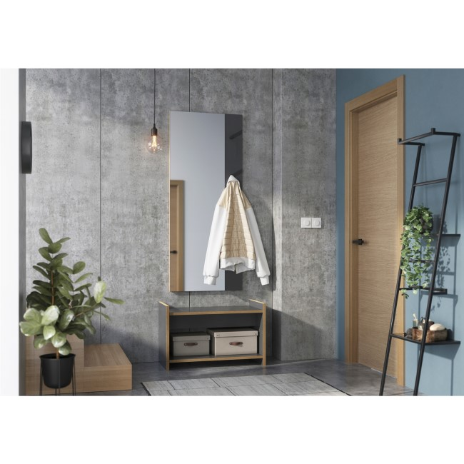 Kante Hallway Storage Unit in Grey
