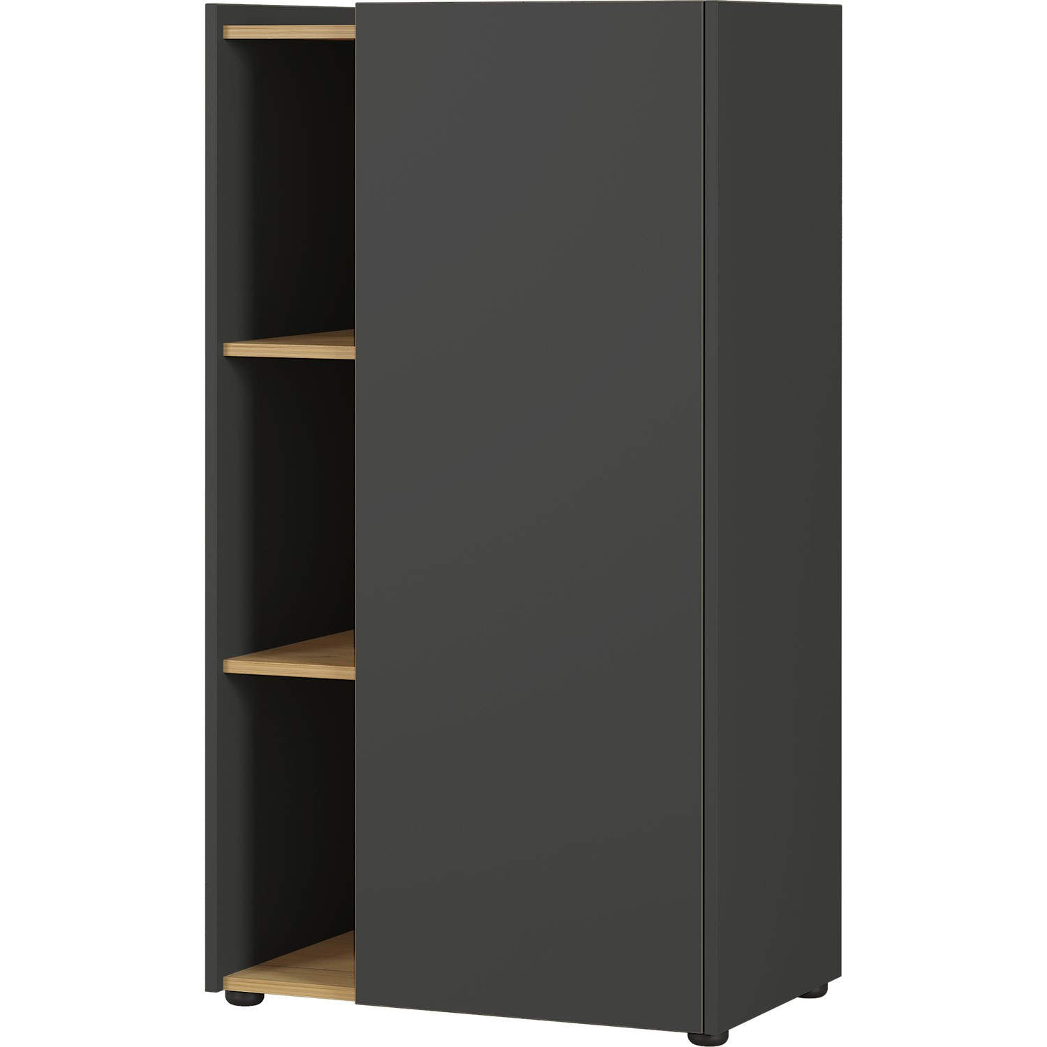 Austin Grey Display And Storage Cabinet With Shelves Furniture123