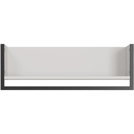Madeo White Shelf with Black Frame