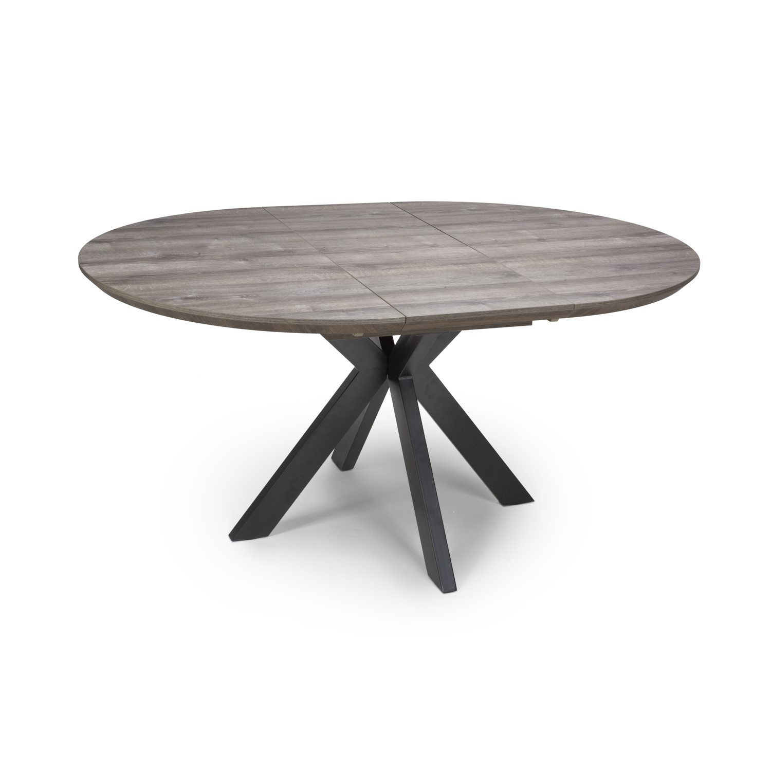 Picture of: Grey Extendable Round Dining Table Manhattan Furniture123