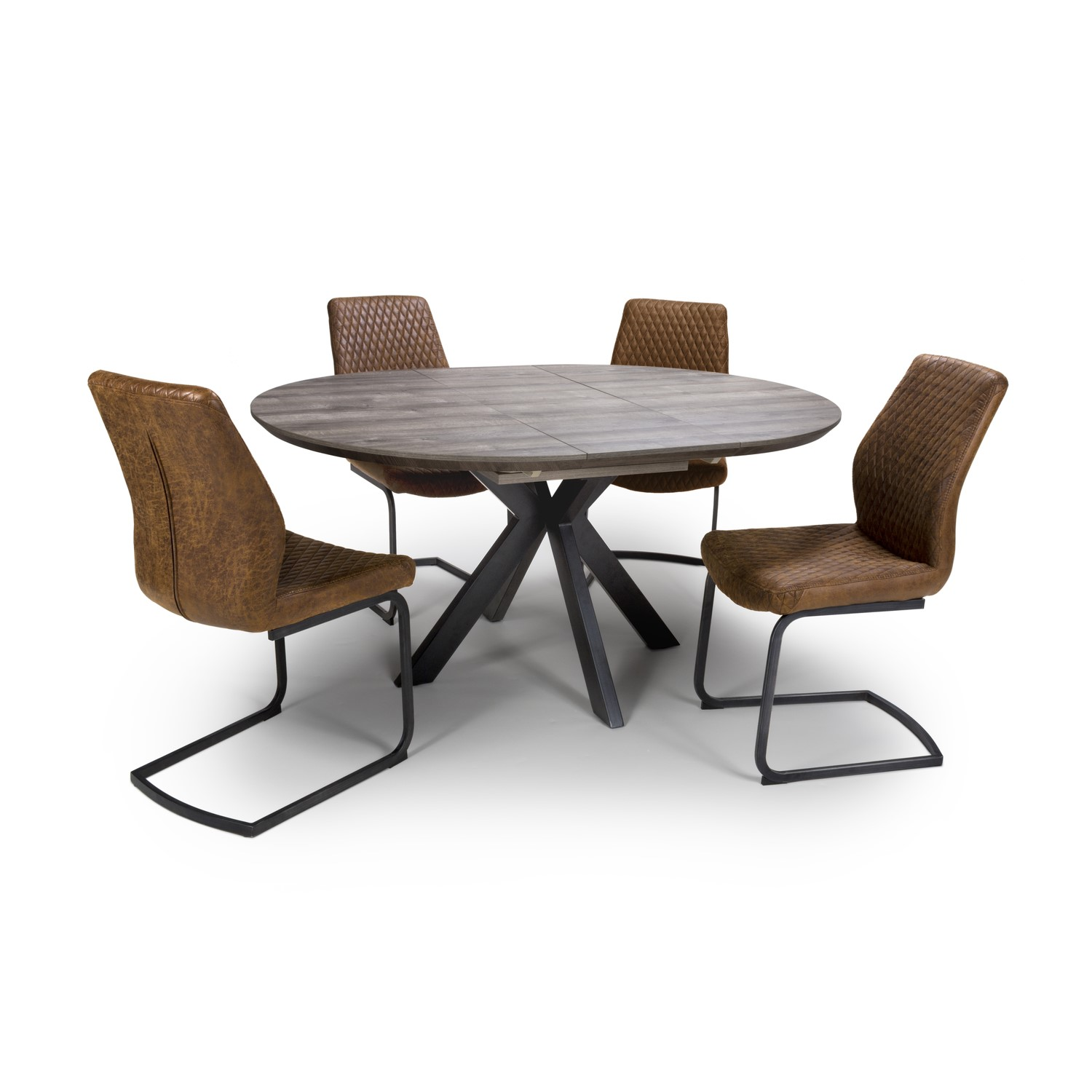 Liberty Grey Extendable Round Dining Table   Furniture9