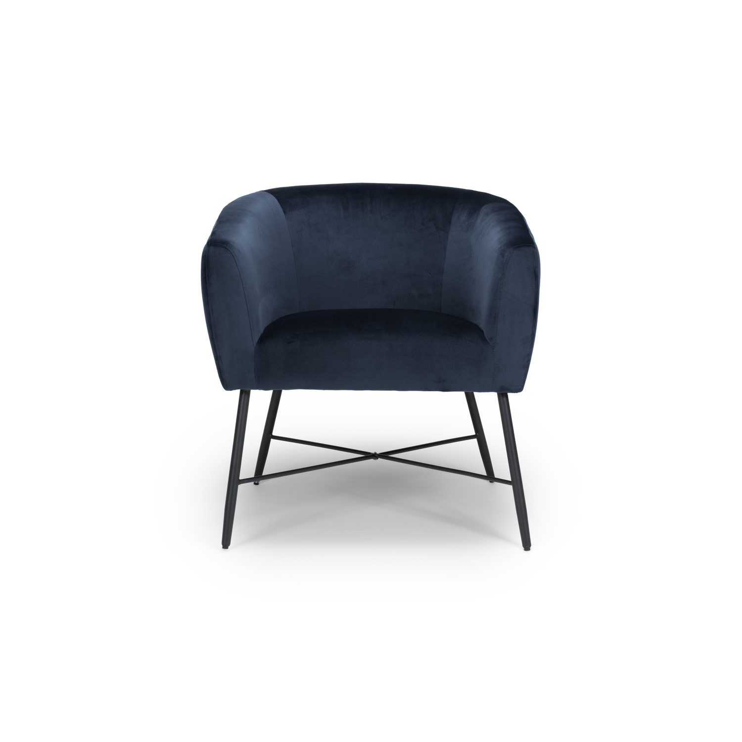 Navy Blue Accent Chair With Black Legs Zara Furniture123