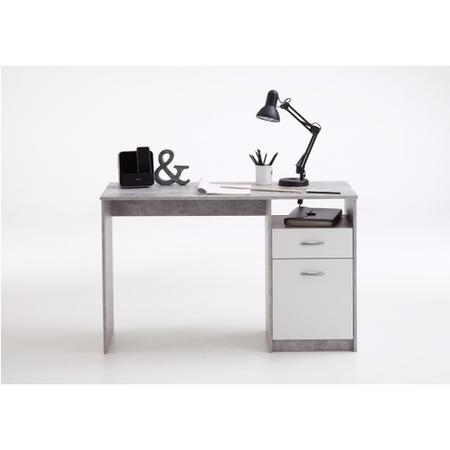 Large Grey Office Desk with Storage Cupboards - Jackson