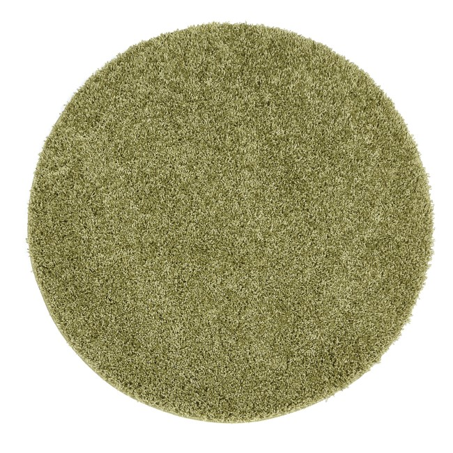 Ripley Stain Resistant Circle Olive Green Rug - 100x100cm
