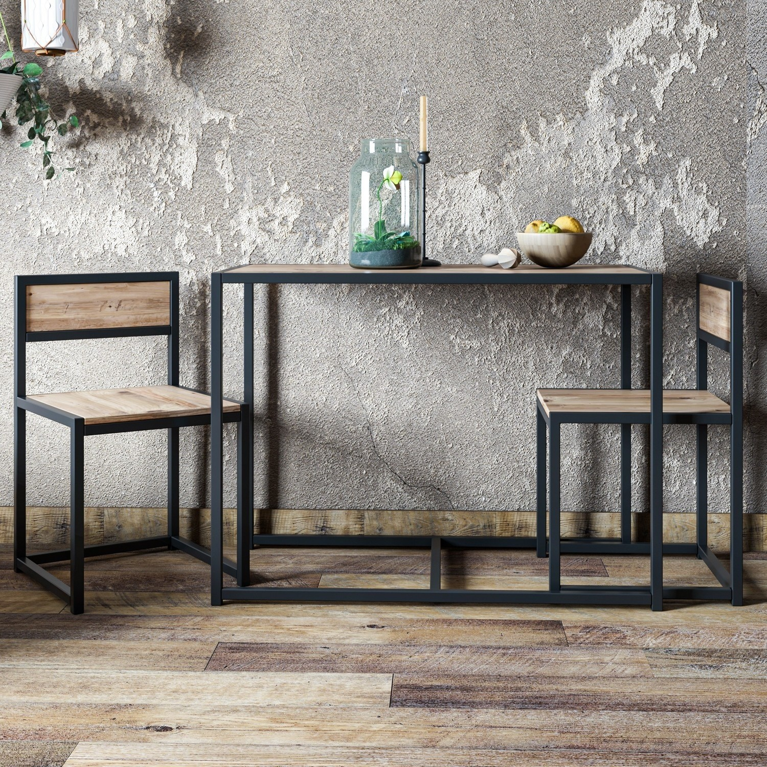 Photo of Stowaway industrial 2 seater dining set