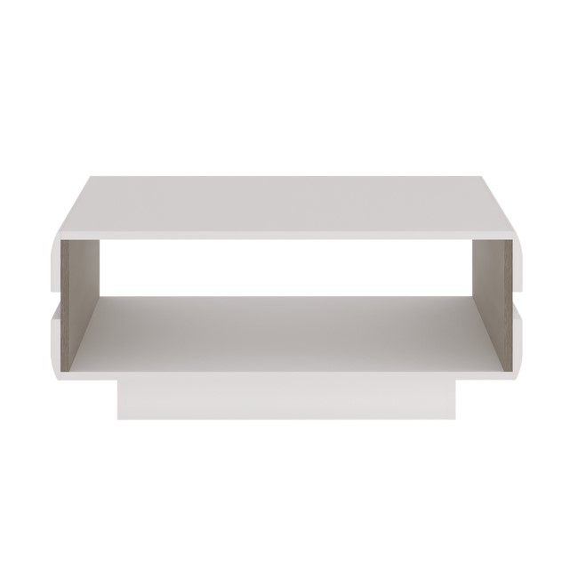 Chelsea White High Gloss & Oak Coffee Table