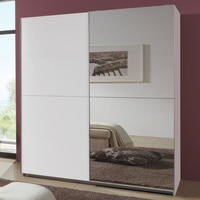 Evoque Sliding Mirrored Wardrobe in White