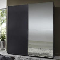 Evoque Sliding Mirrored Wardrobe in Lava Grey
