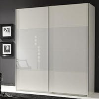 Evoque Sliding Wardrobe in White with White Glass