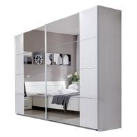 Evoque Sliding Door Mirrored Wardrobe in White