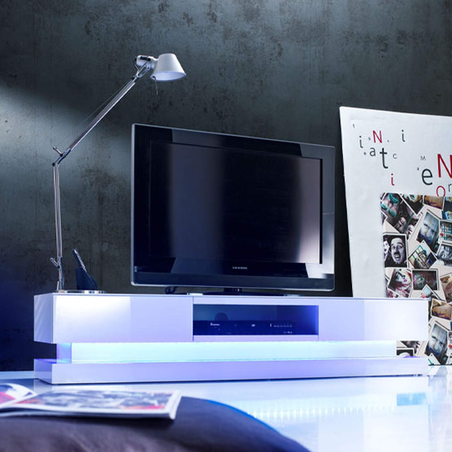 Led Tv Unit # Groupon Meuble Tv Led