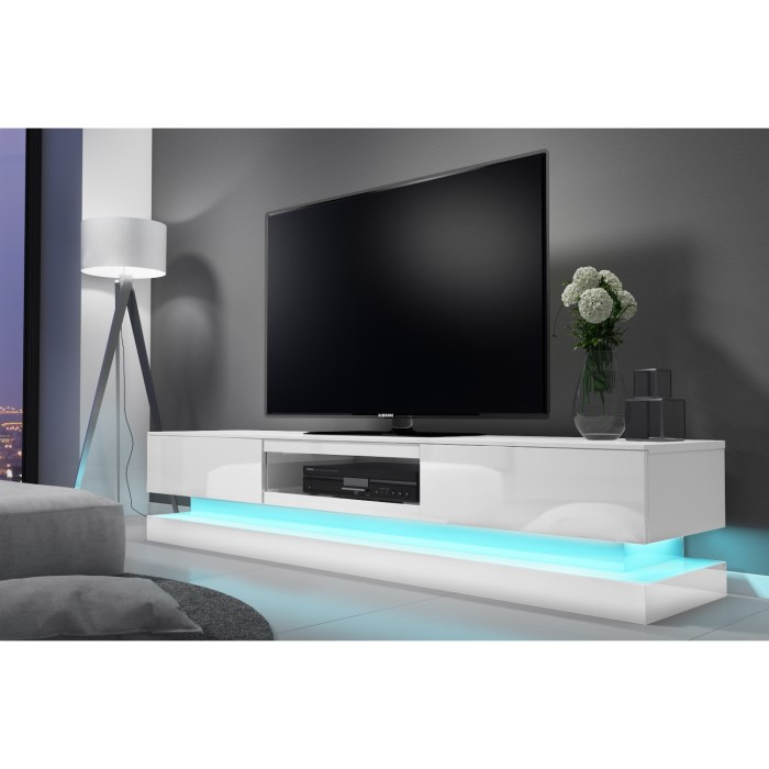 Tv Tables Menard High Gloss Tv Unit: Evoque LED White High Gloss TV Unit With Lower