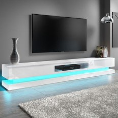 10bfe6352b2 Evoque XL White High Gloss TV Unit with LED Lighting