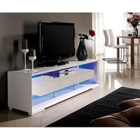 GRADE A3 - Evoque White on White High Gloss LED TV Unit With Storage