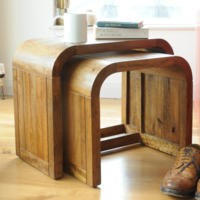 Signature North Retro Solid Wood Nest of Tables