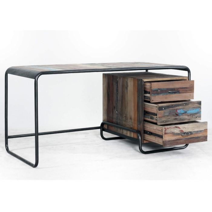 signature north reclaimed boat retro office desk furniture123