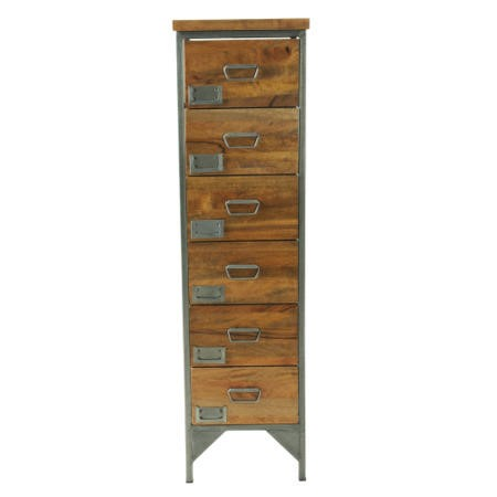 Signature North Industrial 6 Drawer Tall Chest of Drawers