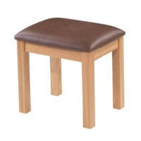 Bayonne Oak Dressing Table Stool