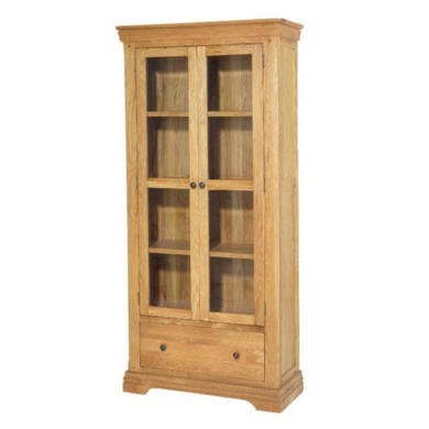 Heritage Furniture Bayonne Oak Display Cupboard