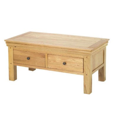 Heritage Furniture Bayonne Oak Coffee Table With 4 Drawers