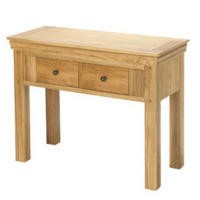 Heritage Furniture Bayonne Solid Oak Console Table with 2 Drawers