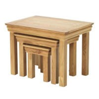 Bayonne Oak Nest of 3 Tables