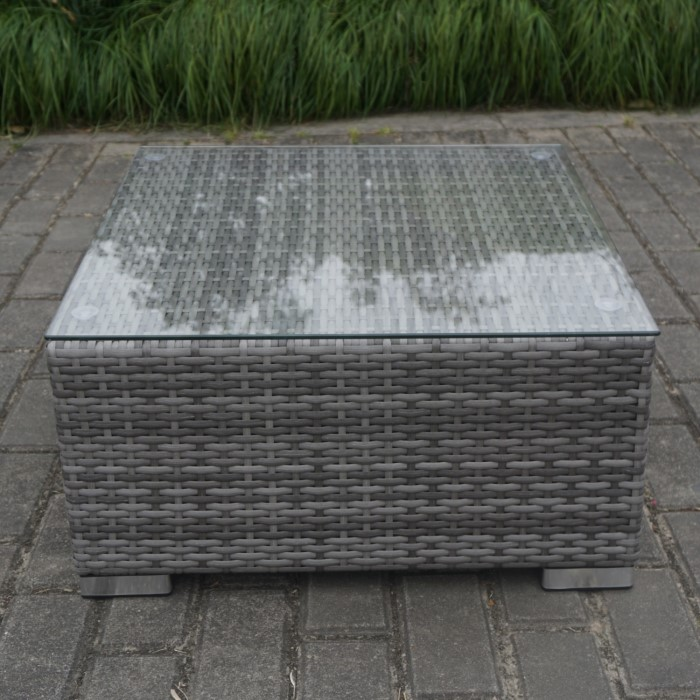 Small Grey Rattan Coffee Table: Grey Rattan Corner 4 Seater Sofa Set With Coffee Table