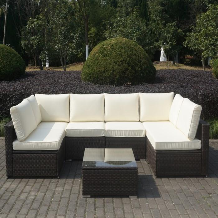 brown rattan large corner sofa set with coffee table furniture123. Black Bedroom Furniture Sets. Home Design Ideas