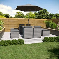 8 Seater Rattan Cube Dining Set
