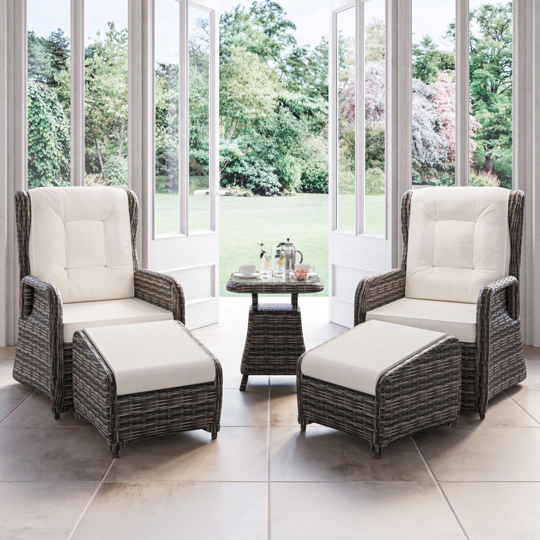 Rattan garden loungers uk
