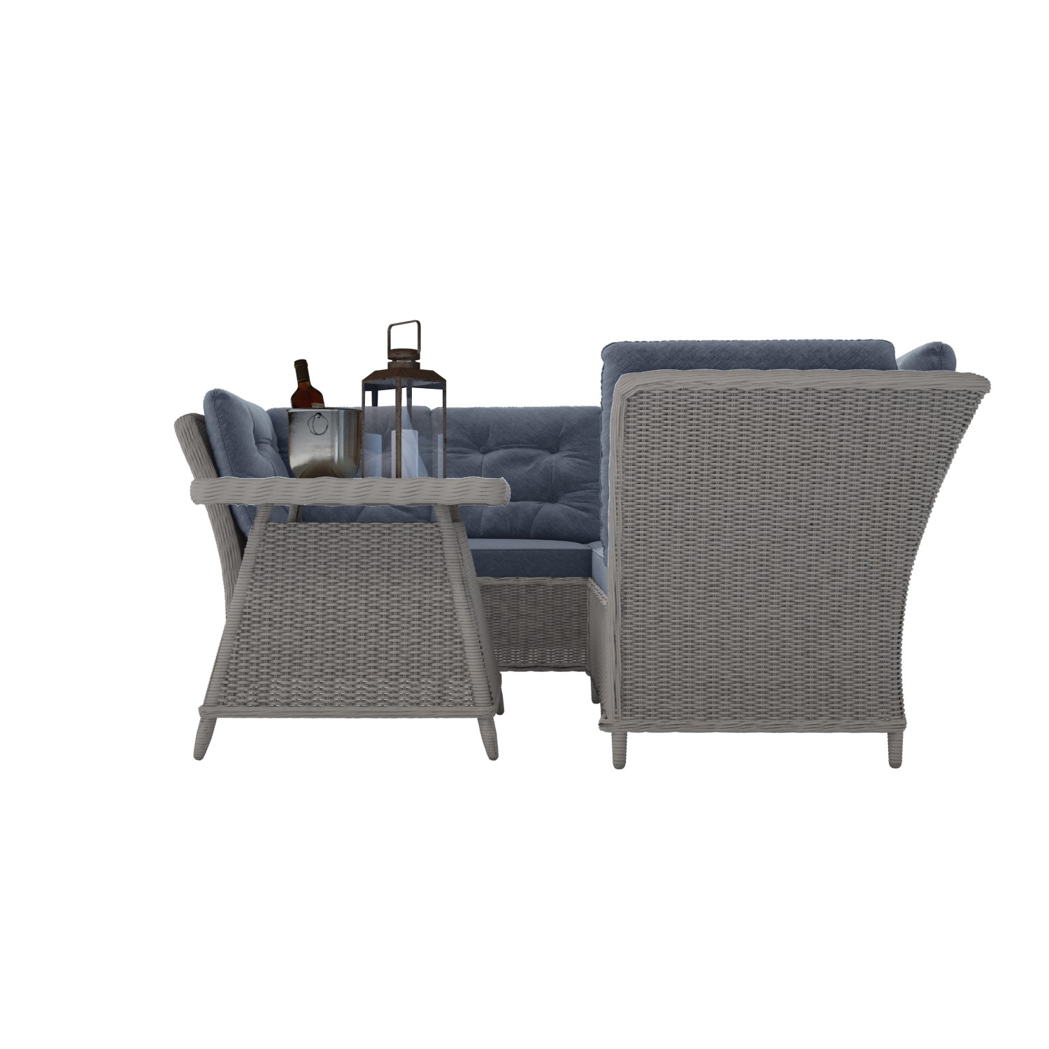 Magnificent Aspen Grey Rattan Garden Furniture Corner Sofa Table Cushions Included Interior Design Ideas Clesiryabchikinfo