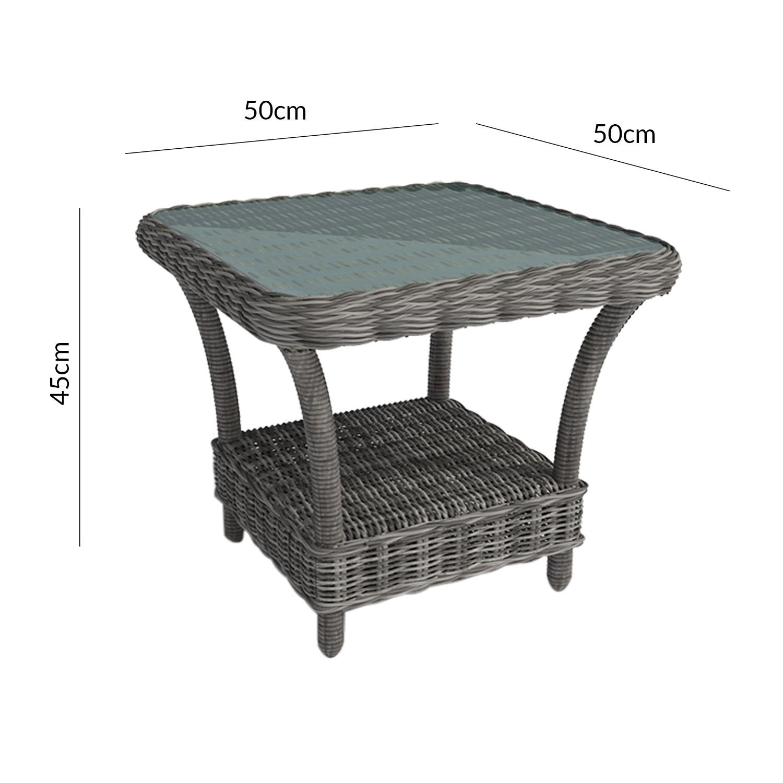 Grey Rattan Reclining Garden Lounger Set with Table Aspen Range