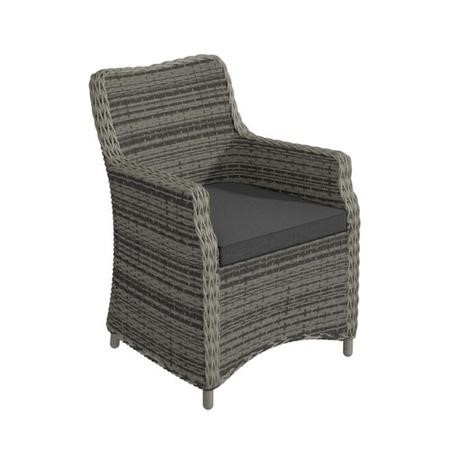 2 Grey Rattan Outdoor Chairs