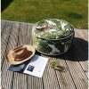 Garden Footstool in Green & White Leaf Print - Inflatable