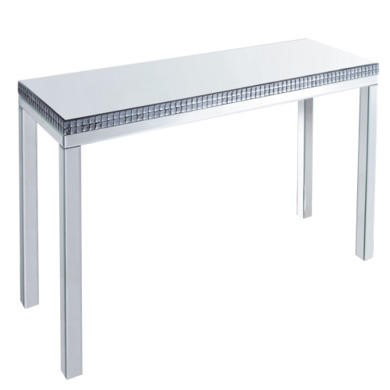 Venice Mirrored Console Table with Mirrored Bezel Detail