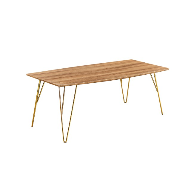 LPD Fusion Coffee Table in Wood Effect with Gold Legs